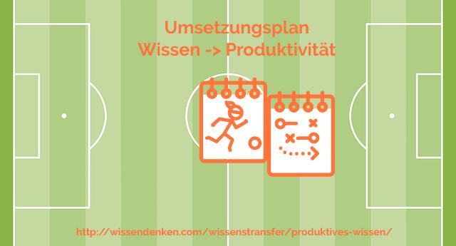 Umsetzungsplan für produktives Wissen