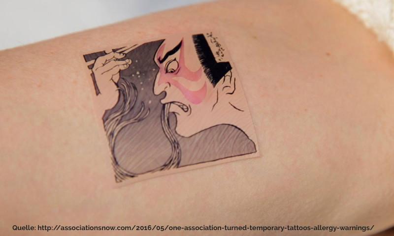 visuelle Kommunikation mit einem Tattoo