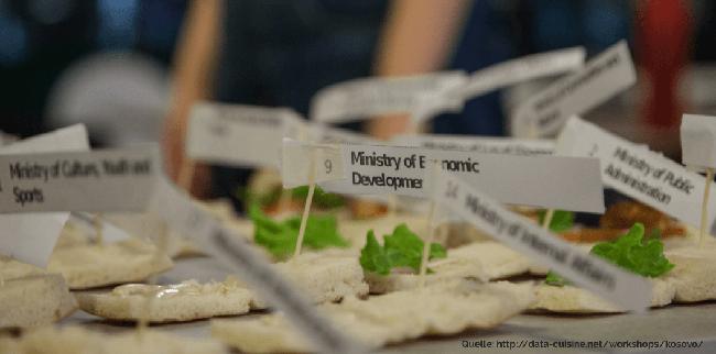 Daten greifbar machen mit Lebensmitteln