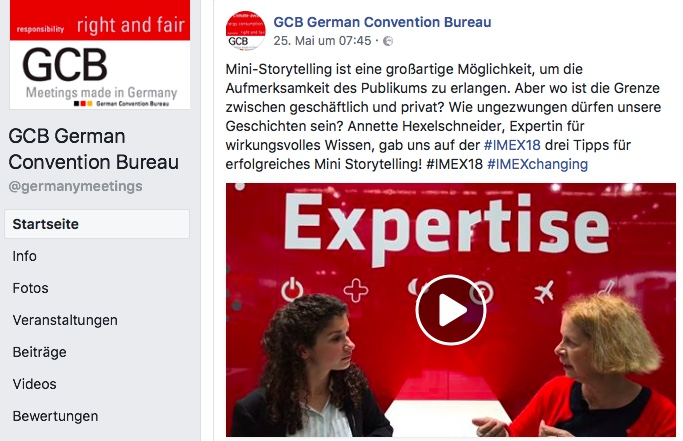 IMEX Frankfurt - Interview mit mir German Convention Bureau