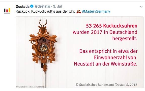 Statistiken kommunizieren Beispiel Humor vom Statistischen Bundesamt (BRD