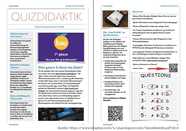Beispiel Quick Reference Card Quizdidaktik #DiBiS