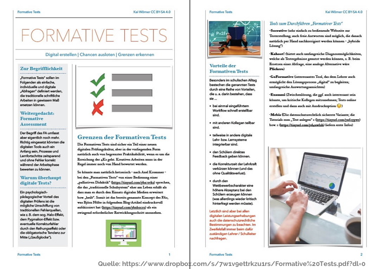 Beispiel Quick Reference Card Formative Tests #DiBiS