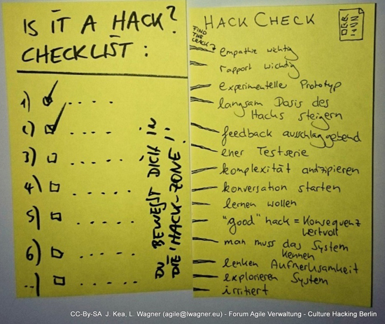 Hack Checkliste