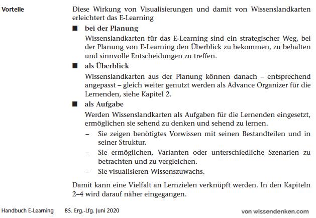 Nutzen Wissenslandkarten E-Learning